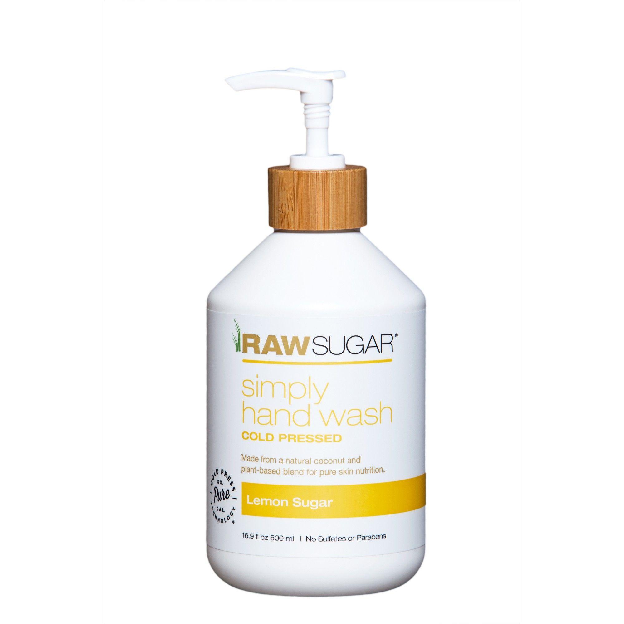 Raw Sugar Simply Hand Wash Lemon Sugar 16 9 Fl Oz Lemon Sugar