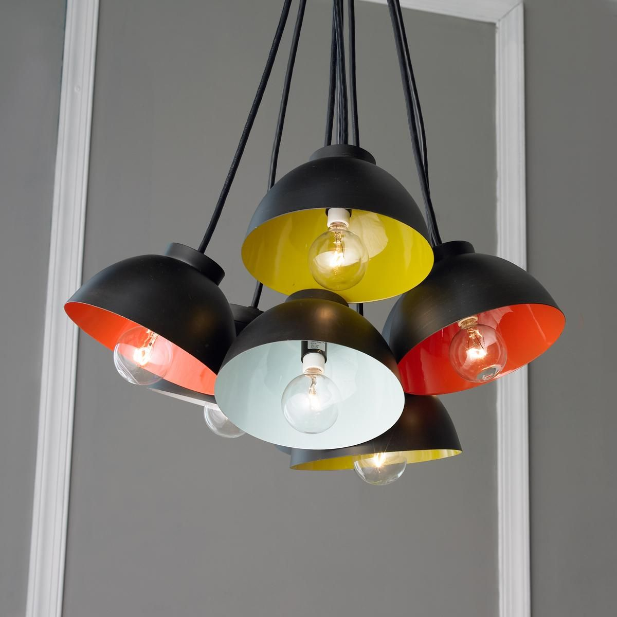 8 Light Pop Color Chandelier Add A Burst Of Color To The Kitchen