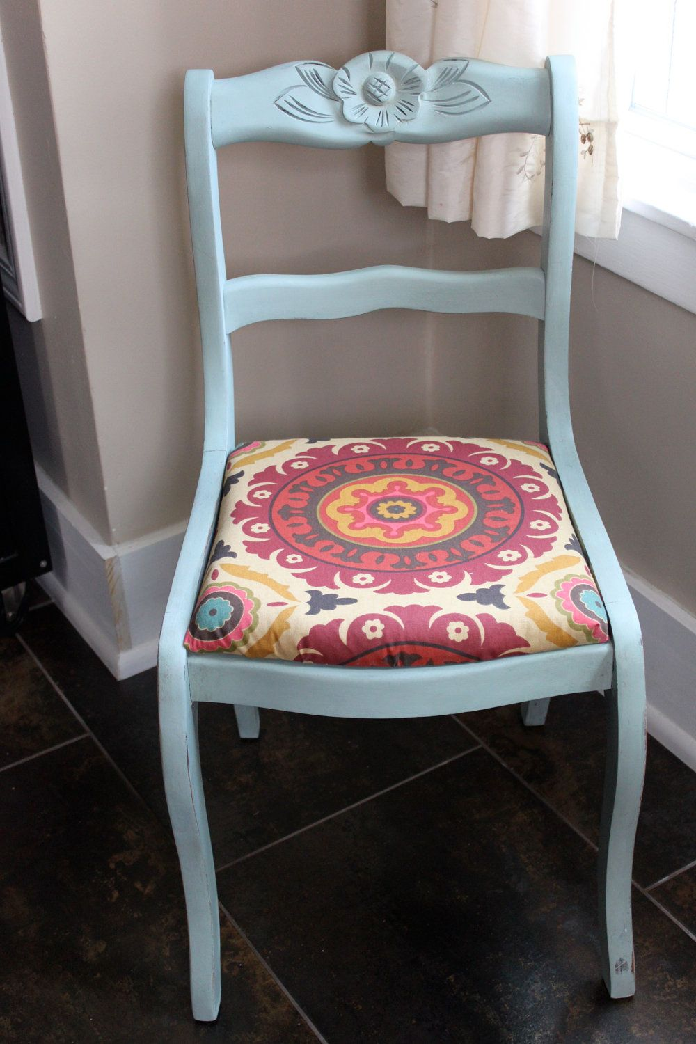 Duck egg blue antique chair with images antique