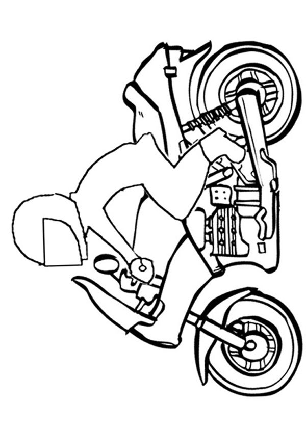 Free Online Motorbike Colouring Page Free Online Coloring