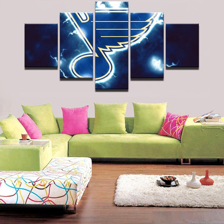 panel st louis blues nhl team thunderbolt in products
