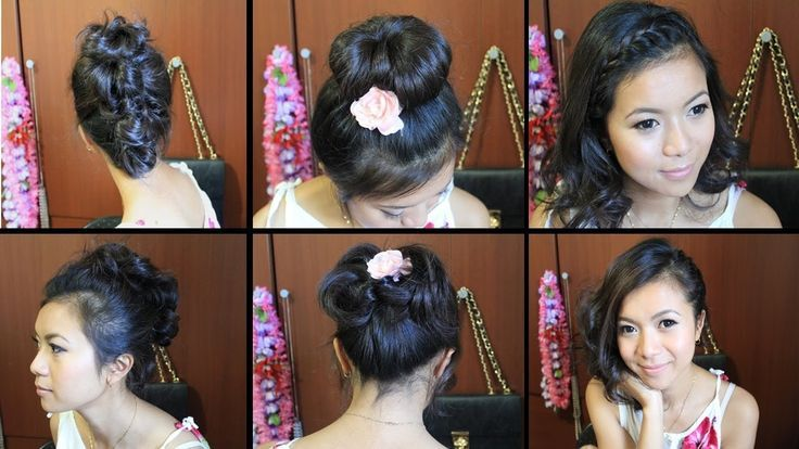 Hairstyle For Girls With Middle Hair For School The Hairstyle For