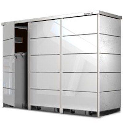 Mülltonnenbox Alu mit Lärche Mülltonnenbox
