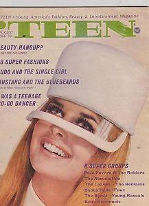 AUG 1966 TEEN vintage magazine