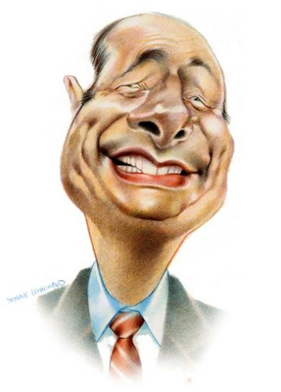 Caricature  Jacques Chirac