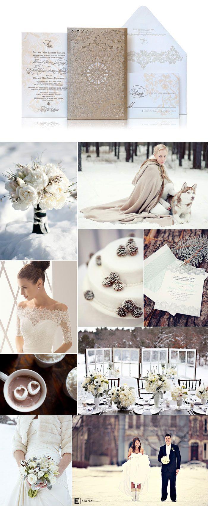 Winter white wedding inspiration | Inspiration Boards | Pinterest ...