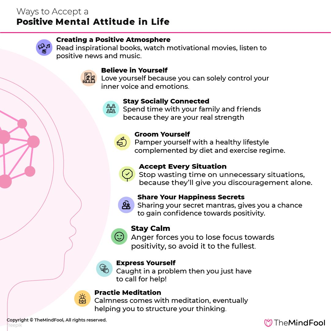 Ways To Accept A Positive Mental Attitude In Life In