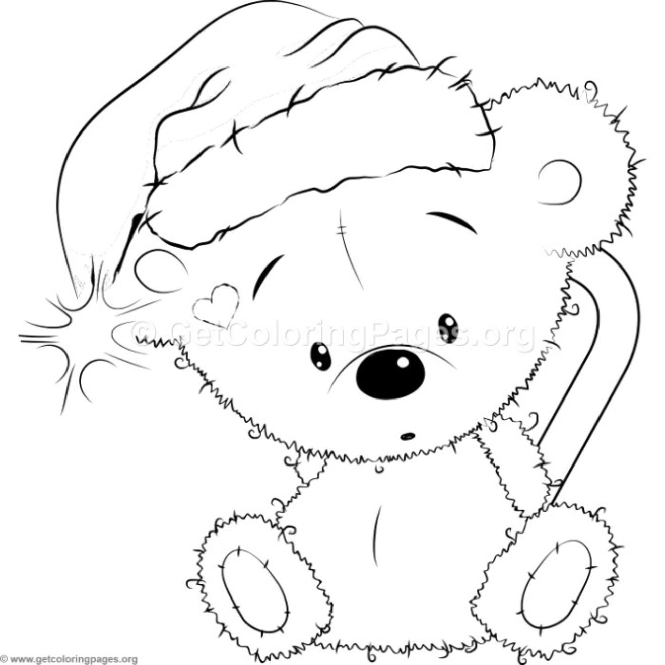 Cute Christmas Teddy Bear 28 Coloring Pages  Cute coloring pages