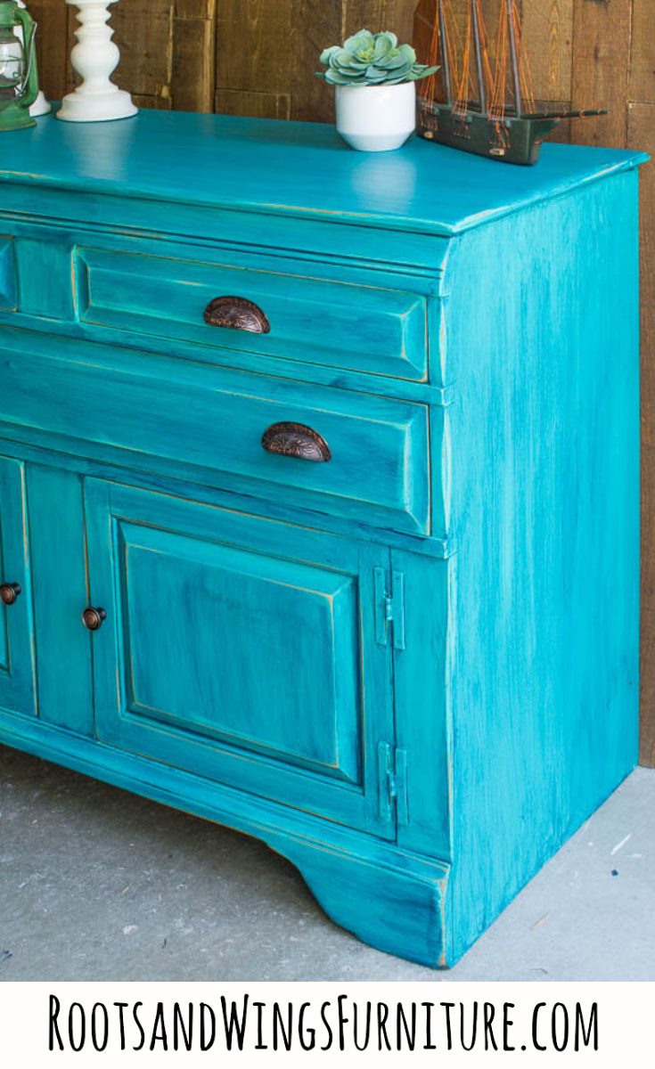 Color Washing Tutorial By Jenni Of Roots Wings Furniture General Finishes Patina Green And Coastal Blue Create This Beautiful Finish