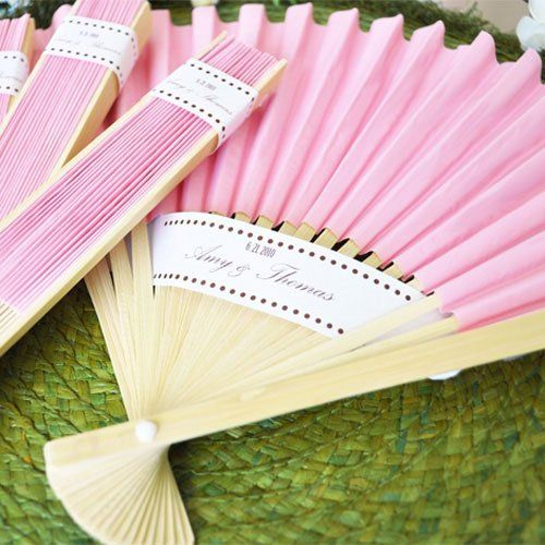 Colored Paper Hand Fans The Actual Wedding Wedding Fans
