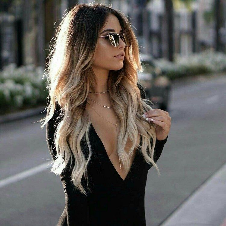 Balayage ombré blond- l'alternative plus naturelle à l'ombré blond tendance #blondeombre
