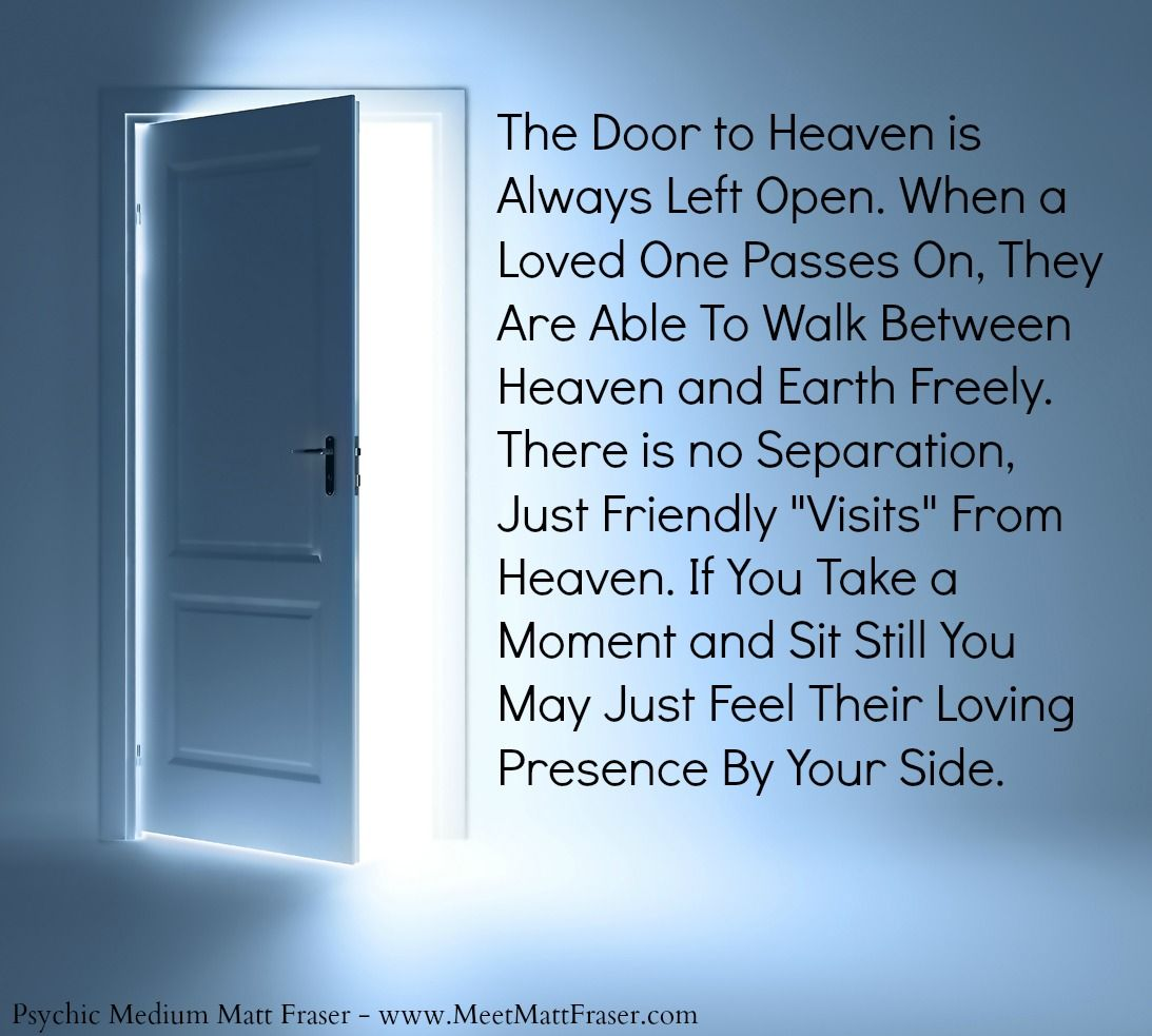 Psychic Quotes Psychic Afterlife Quote Door Presence Spirit Heaven