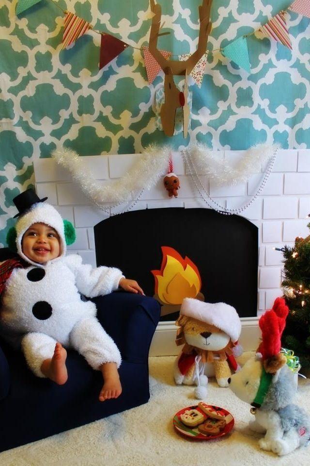 DIY FIREPLACE PROP , Kids Christmas Pictures, Christmas Photos ...