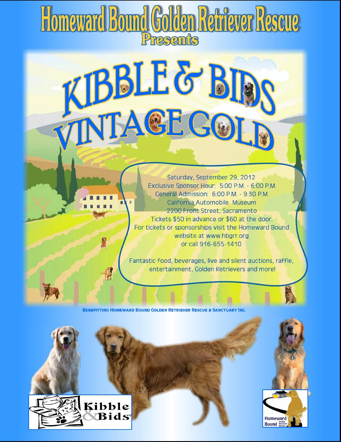 Sept 28th Kibbles Bids Silent Auction Raffle Entertainment And More To Benefit Homeward Bound Golden Retri Golden Retriever Rescue Golden Retriever Event