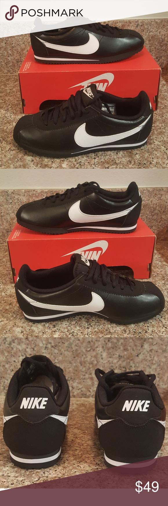 NEW Nike Cortez BLK / WHT GS Size 7 / Women's 8.5