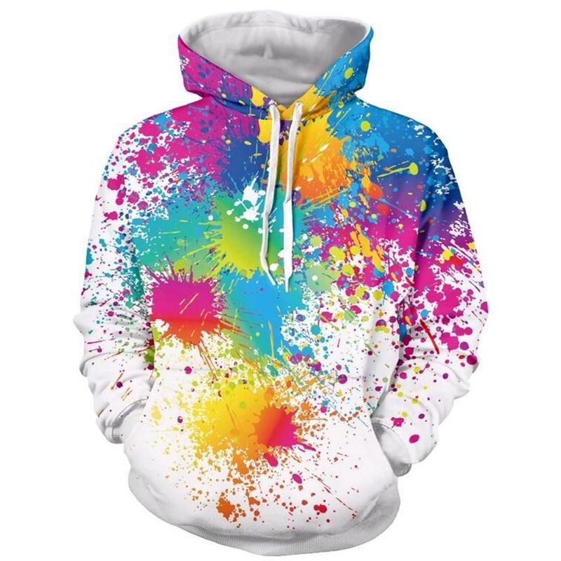 Sudadera con capucha Paint Splatters – 5 / M  – Moda