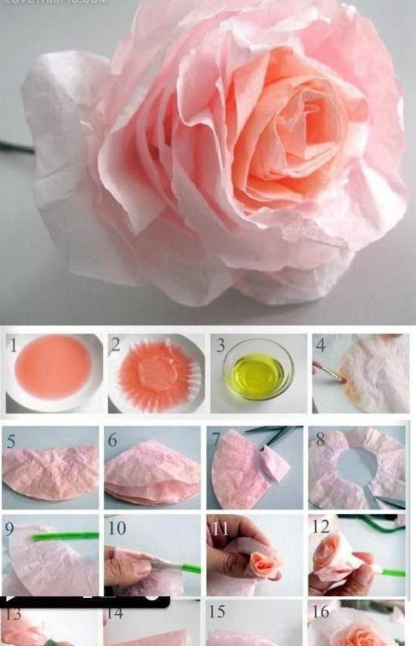 DIY roses flowers diy crafts home made easy crafts craft idea