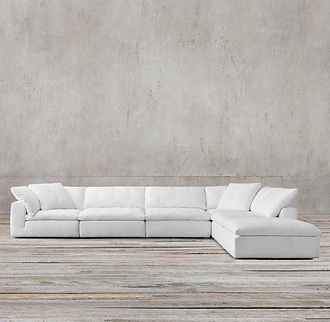 Petite Cloud Modular Fabric Chaise Sectional Armless Chair 35 W X 36 D X 31 H Corner Chair 36 Sq 31 H Modular Sofa Modular Sectional Sofa Modular Couch