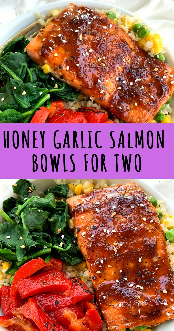 Honey Garlic Salmon Bowls   Easy Dinner For Two images