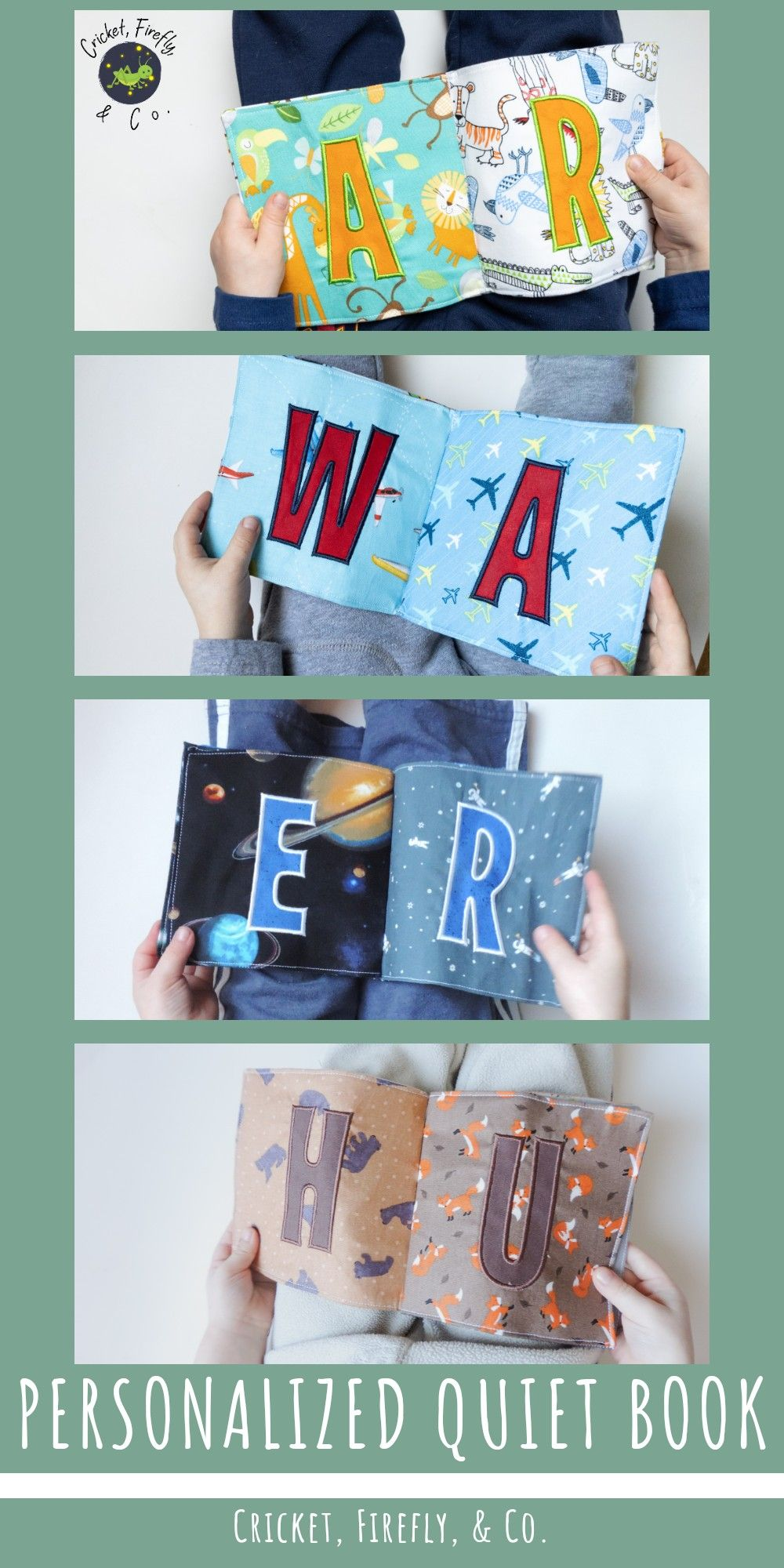 Personalized Quiet Book, Baby Books, Toddler Books, First ...
