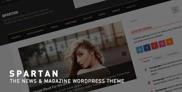 Spartan Magazine - News Blog WordPress Theme