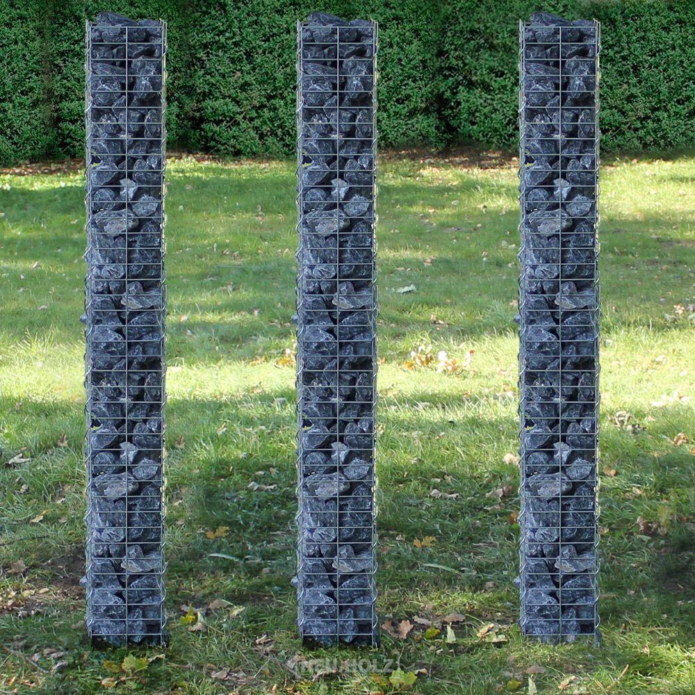 Gabionen sind befüllte Drahtschotterkörbe und eignen sich hervorragend zum schnellen Bau von Sicht- und Lärmschutzmauern. Großformatige Elemente können auch einfach aufeinander. Gabionen werden auch als Elemente an Hängen genutzt, um dort den Erddruck abzufangen. | eBay!