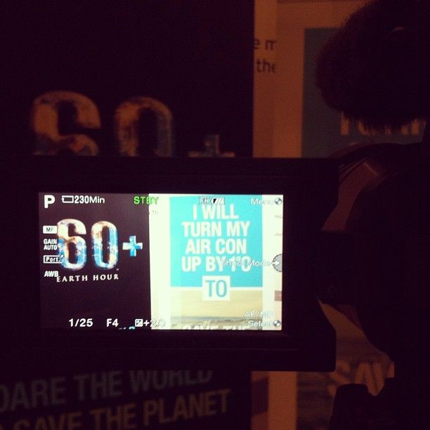 Getting ready for #EH2013! What will you do save the planet? #IWIYW #EarthHour #filming
