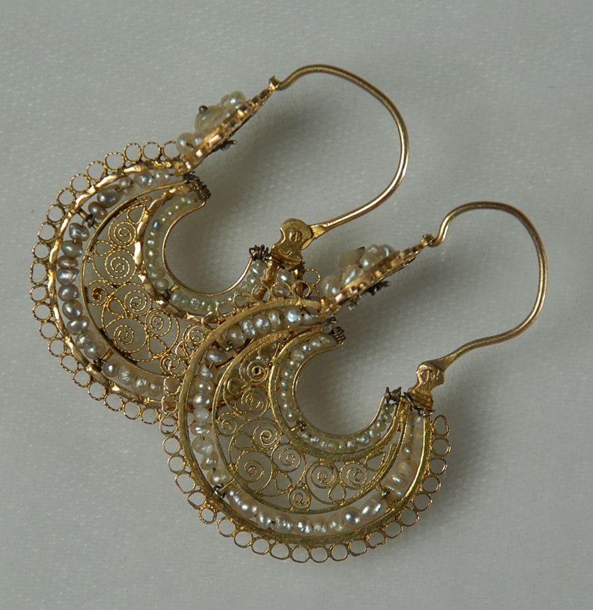 Antique Mexican Gold Arracadas Colonial Arts Mi Cultura