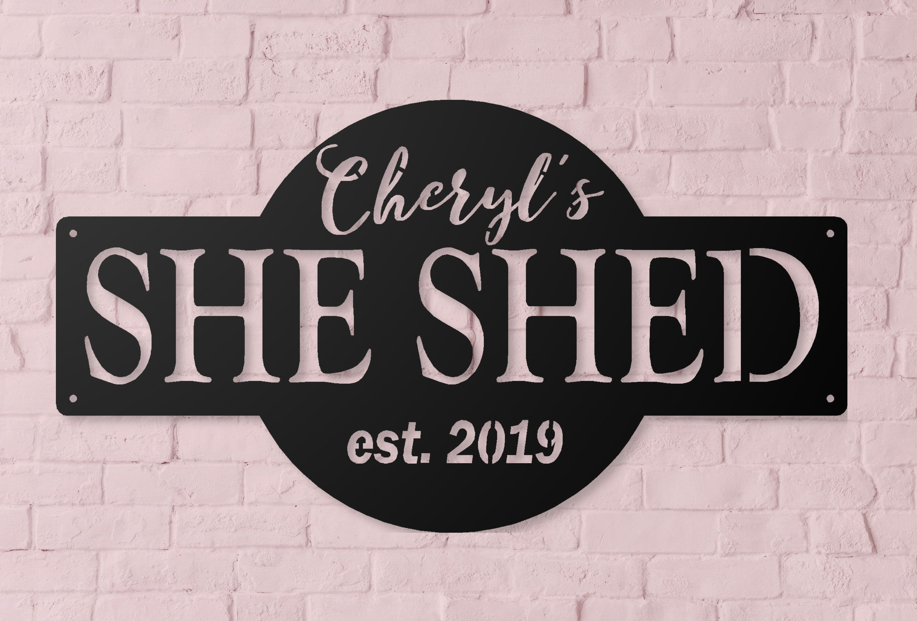 She Shed Personalized Metal Outdoor Sign Established Date Sign Gift For Her Decorative Metal Sign She Shed In 2020 Shed Signs Outdoor Signs She Shed