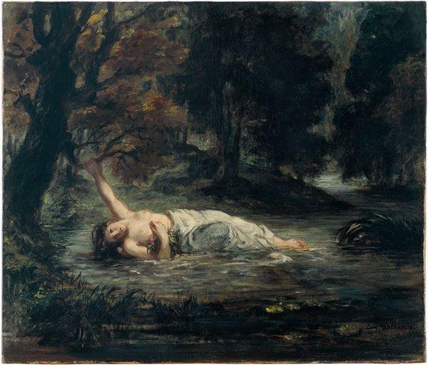 Eugene Delacroix, Death of Ophelia 1864