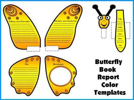 Caterpillar Book Report Project templates, worksheets, grading - book summary template
