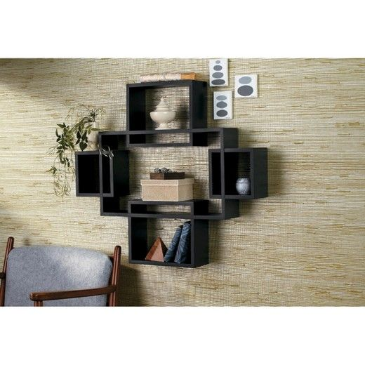 5pc Interlocking Shelf Set Black Threshold Target Shelves