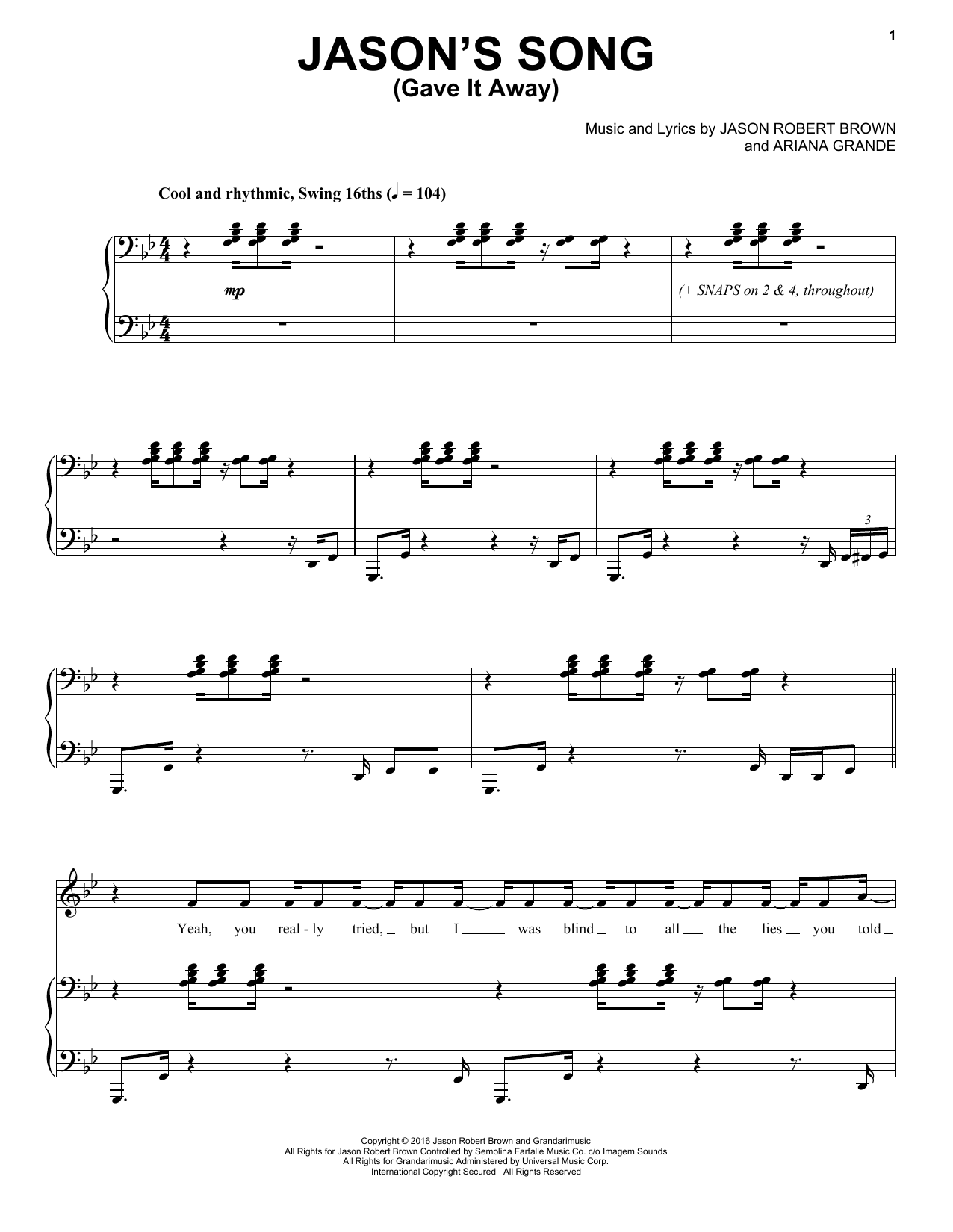 Weve got the sheet music for ariana grandes newest hit jasons pianos hexwebz Choice Image