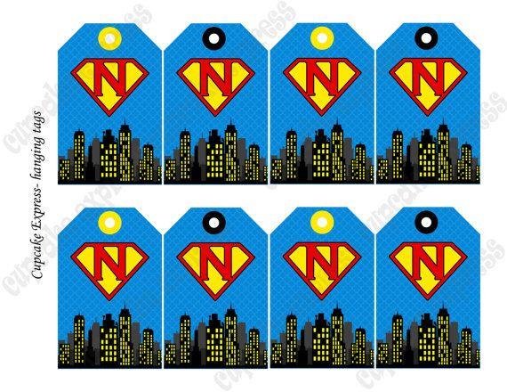 Printable Super Hero Tags