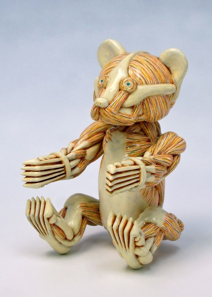 Teddy - stone sculpture