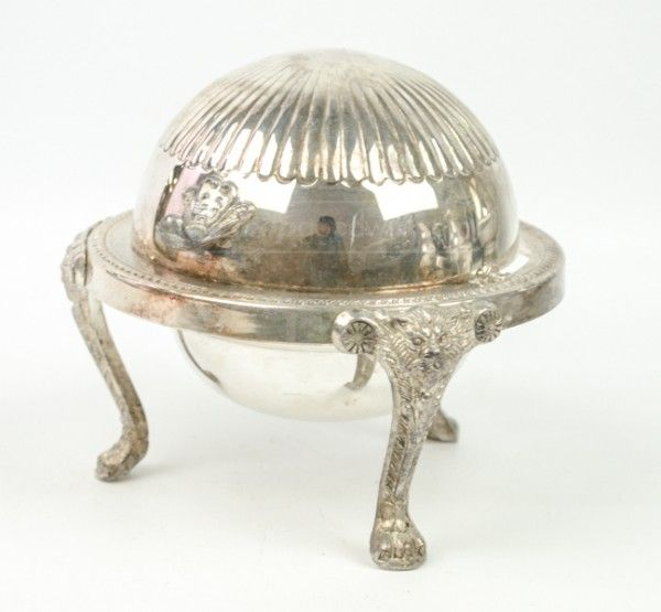 shopgoodwill.com: FB Rogers Domed Footed SilverPlate Butter Tray