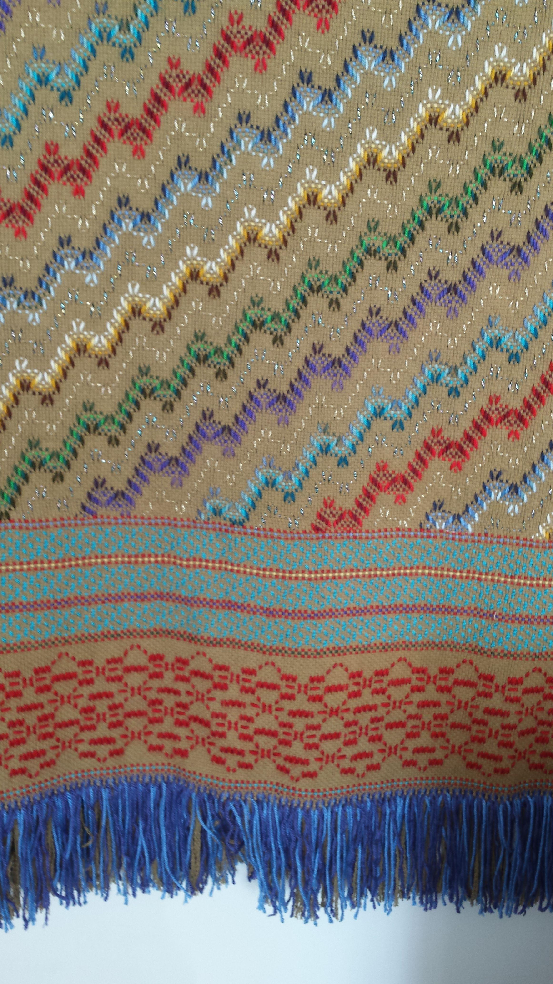 swedish weaving on Idaho potatoe colored monks cloth
