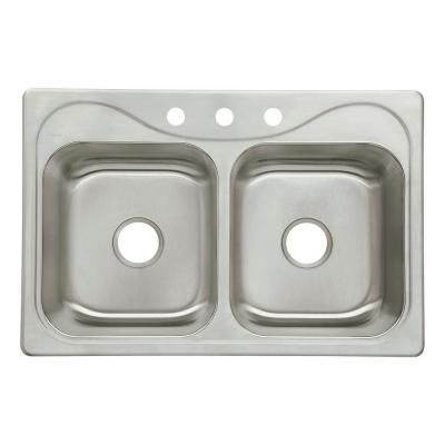 Sterling Kohler Southhaven Drop In Stainless Steel 33 In 3 Hole