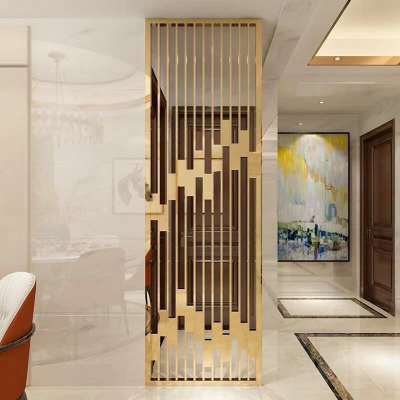 Stainless Steel Room Divider Wall Partition Design Living Room