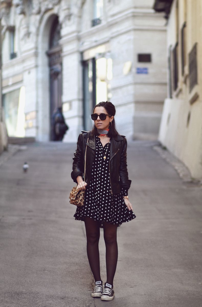 Léopard Zara Petite Converse Pois Sac Perfecto Balenciaga Robe gYbf6y7v