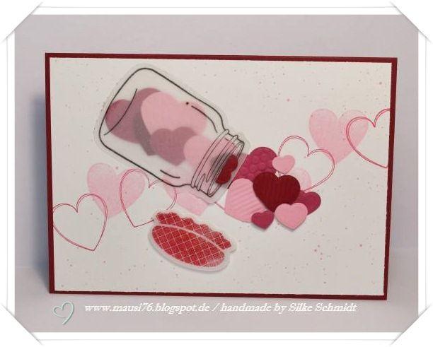 ♥ Mausi's Bastelwerkstatt ♥: Herzen im Glas