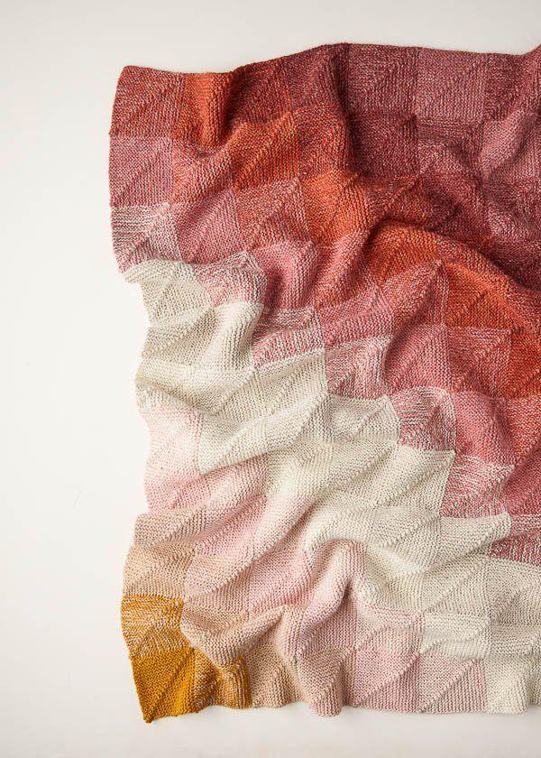 Mitered Corner Blanket | Purl Soho #knitting