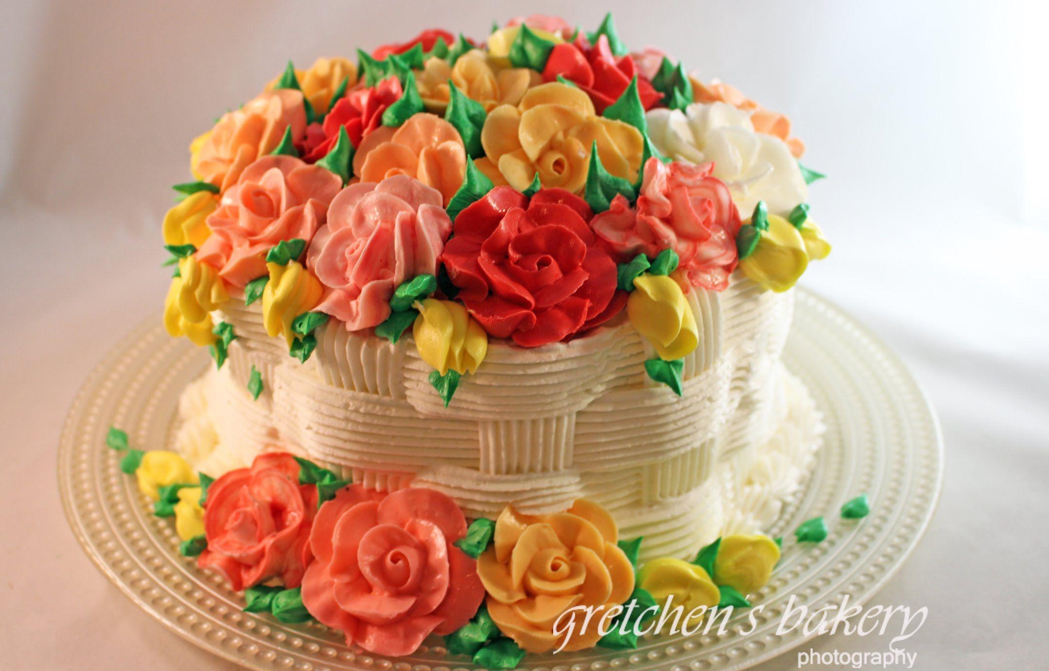 Basketweave flower cake for beginners cake decorating