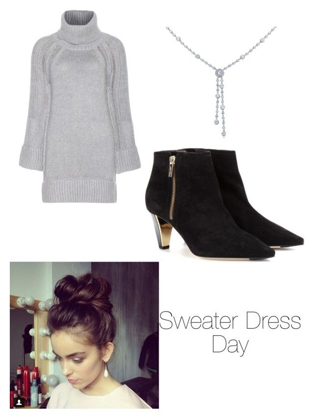 """Sweater Dress Day"" by its-massieee ❤ liked on Polyvore featuring Burberry, Jimmy Choo and Tiffany & Co."