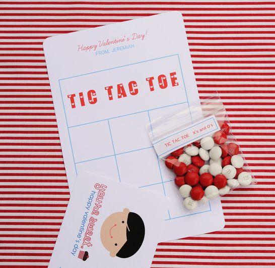 cute tic tac toe valentine idea @Sally McWilliam J Shim - tic tac toe template