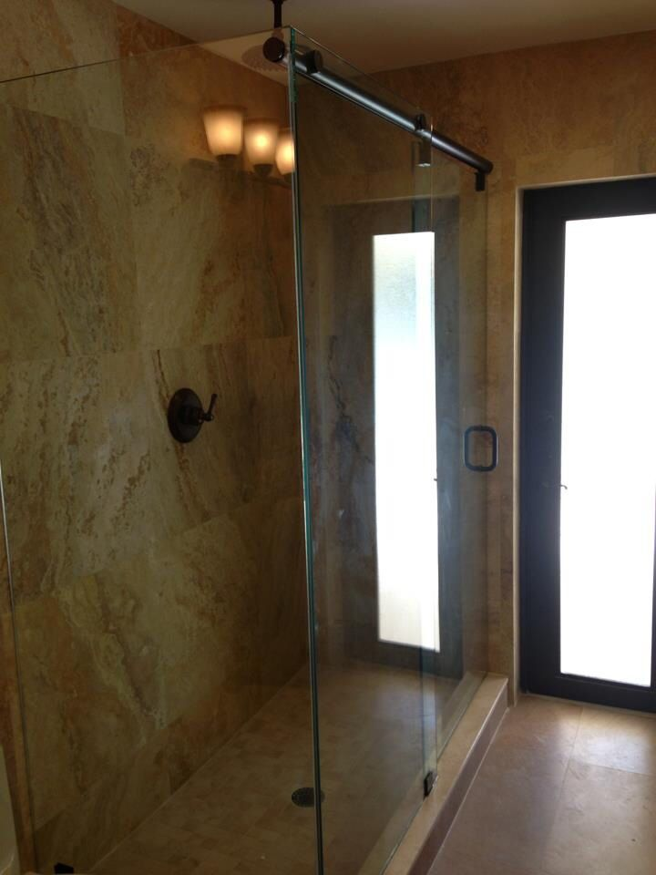 Hydroslide Style Shower Door 90 Degree Angle | Frameless Shower ...