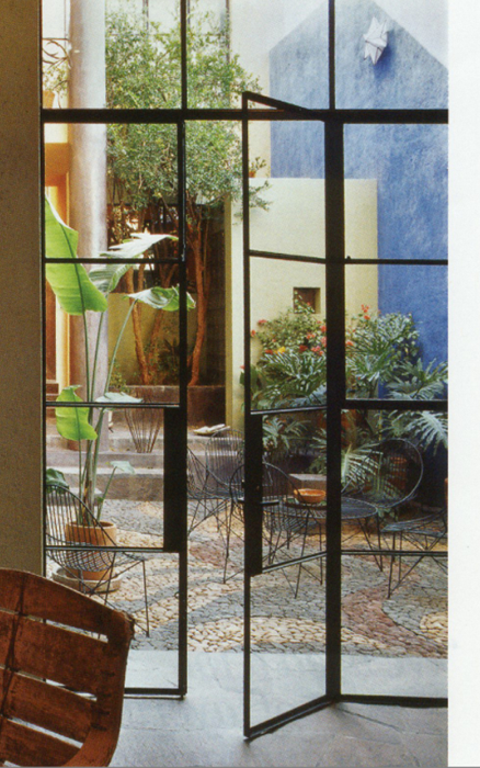 crittal doors to courtyard garden simple steel find this pin and more