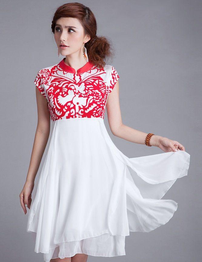 d29f5ed2a Modern Chinese Qipao Dress: Chinese Paper Cut $84.50 (63,66 ...
