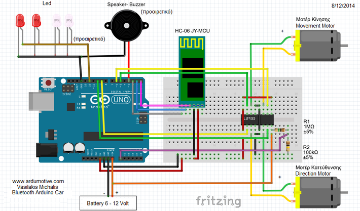 Pin by Michalis Vasilakis on Arduino Bluetooth RC Car ... Radio Control Schematic Diagram on