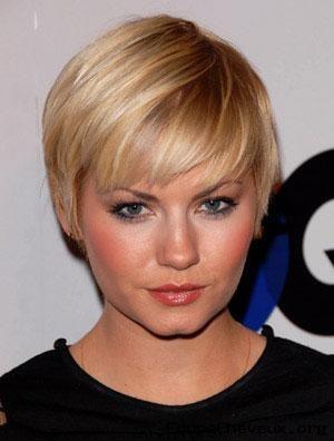 Model de coiffure pour femme cheveux court